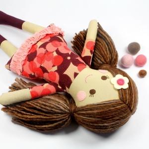 Lány Baba Rongybaba Játékbaba  Textiljáték Lotti, Gyerek & játék, Játék, Baba játék, Baba, babaház, Plüssállat, rongyjáték, Újrahasznosított alapanyagból készült termékek, Varrás, Boltomban mindent természetes eredetű, részben pedig újrahasznosított vagy organikus alapanyagokból ..., Meska