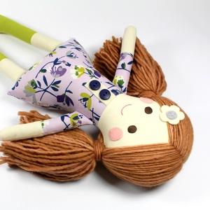Lány Baba Rongybaba Játékbaba  Textiljáték Lotti, Játék & Gyerek, Baba, Baba & babaház, Boltomban mindent természetes eredetű, részben pedig újrahasznosított vagy organikus alapanyagokból ..., Meska