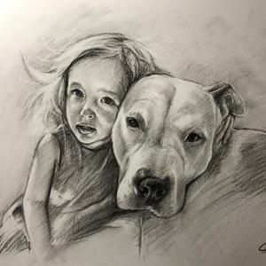 Szénceruza portré / portré rajzolás / A4 lapméret / Ajándékozz szénceruza portrét, Képzőművészet, Dekoráció, Otthon, lakberendezés, Falikép, Fotó, grafika, rajz, illusztráció, Szeretnéd igényes, eredeti, művészi formában megörökíteni magadat, kedvesedet, szeretteidet, vagy a..., Meska