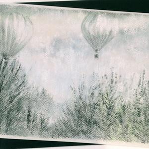 Hőlégballonok.., Otthon & lakás, Képzőművészet, Festmény, Pasztell, Festészet, Fotó, grafika, rajz, illusztráció, pasztell festmény\nA/4\nSzerény fotók...Ha többet világosítottam rajtuk, akkor még inkább eltűntek a h..., Meska
