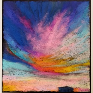 Színtanulmány - felhők..., Otthon & lakás, Képzőművészet, Festmény, Pasztell, Festészet, Fotó, grafika, rajz, illusztráció, pasztell festmény\n30x29 cm, Meska