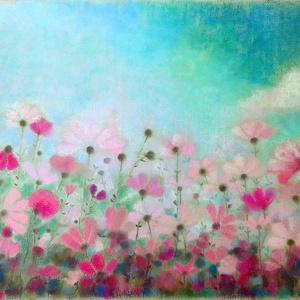 FÉLÁRON A KÉPEK - A kép alatt már a kedvezményes ár látható.  Felhőcske, Otthon & lakás, Képzőművészet, Festmény, Pasztell, Festészet, Fotó, grafika, rajz, illusztráció, pasztell festmény\n32x50 cm\nEgy szép fotó alapján.\nAz első fotón az ég és a felhő színei pontosabbak,..., Meska