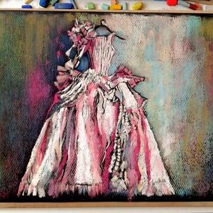 FÉLÁRON A KÉPEK - A kép alatt már a kedvezményes ár látható. Bál, Otthon & lakás, Képzőművészet, Festmény, Pasztell, Festészet, Fotó, grafika, rajz, illusztráció, pasztell festmény\n30x40 cm, Meska