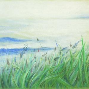 """Szelíd, Művészet, Festmény, Pasztell, pasztell festmény 29.7x42 cm Élőben """"fényesebb"""", élénkebb, kontrasztosabb, viszonta a sejtelmessége ..., Meska"""