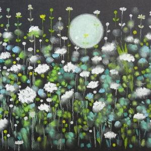 """Kis """"japán"""" rajz, Művészet, Festmény, Pasztell, pasztell festmény 21x29.7 cm, Meska"""