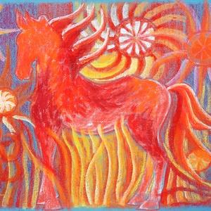 MŰTEREMSÖPRÉS:) Naplovacska, Művészet, Festmény, Pasztell, Festészet, Fotó, grafika, rajz, illusztráció, pasztell festmény\n50x65 cm, Meska