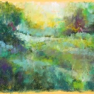 MŰTEREMSÖPRÉS:) Lombos táj..., Művészet, Festmény, Pasztell, Festészet, Fotó, grafika, rajz, illusztráció, pasztell festmény\n21x29.7 cm, Meska