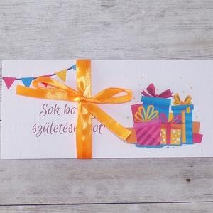 Szülinapi pénzátadó boríték egyedi szöveggel, Boríték, Papír írószer, Otthon & Lakás, Papírművészet, Fotó, grafika, rajz, illusztráció, Ha szeretnél pénzt ajándékozni születésnapra, de nem akarod csak egy sima, snassz borítékba belerakn..., Meska