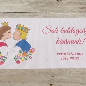 Esküvői pénzátadó boríték, esküvői gratuláció, nászajándék magyar népmesék mintával - Meska.hu