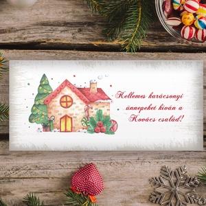 Névreszóló karácsonyi pénzátadó, egyedi utalványátadó boríték mézeskalács mintával, Otthon & Lakás, Karácsony & Mikulás, Karácsonyi csomagolás, Papírművészet, Fotó, grafika, rajz, illusztráció, Nagyon szép, igényes karácsonyi pénzátadó boríték, ha pénzt ajándékoznál, de stílusosan és igényesen..., Meska