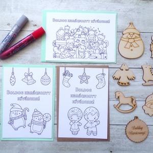 Karácsonyi alkotócsomag (nagy), csináld magad karácsonyi díszek, képeslapok Diy - Meska.hu