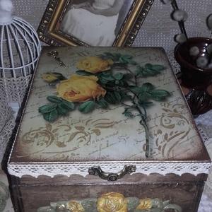 rózsás nosztalgia doboz (pozsgigi) - Meska.hu