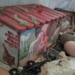 húsvéti tojástartó házikó (pozsgigi) - Meska.hu