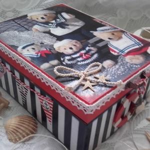 tengerész mackók - doboz (pozsgigi) - Meska.hu