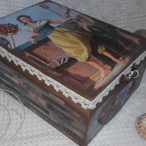 lány a hajón - nosztalgia doboz (pozsgigi) - Meska.hu