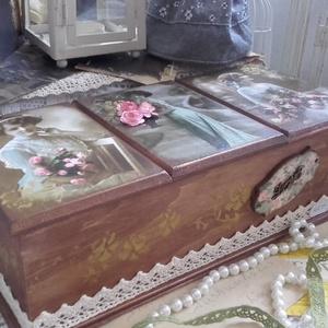 rózsás, három fakkos nosztalgia doboz (pozsgigi) - Meska.hu