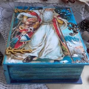 Mikulásos könyvdoboz - karácsonyi nosztalgia doboz (pozsgigi) - Meska.hu
