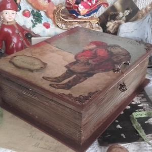 téli mesék - karácsonyi nosztalgia könyvdoboz (pozsgigi) - Meska.hu