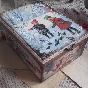 téli madáretetés - karácsonyi nosztalgia doboz (pozsgigi) - Meska.hu