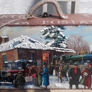 karácsonyi hazautazás - nosztalgia doboz (pozsgigi) - Meska.hu