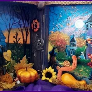 halloween - világítós könyvdoboz  (pozsgigi) - Meska.hu