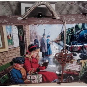 hazautazás - karácsonyi nosztalgia bőrönd (pozsgigi) - Meska.hu