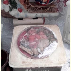 karácsonyi , búrás 3D doboz (pozsgigi) - Meska.hu