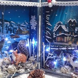 különleges világítós karácsonyi könyvdoboz  (pozsgigi) - Meska.hu