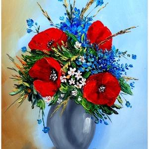 Sztopka Anna: PIPACSOS CSENDÉLET--olajfestmény, Művészet, Festmény, Olajfestmény, Festészet, Mérete 40x25\nkeret nélkül\nFESTŐKÉSSEL,VASTAG FESTÉKRÉTEGGEL KÉSZÜLT\nPostázom,de személyesen is átveh..., Meska