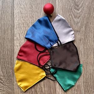 Ünnepi női szatén maszk többféle színben, Maszk, Arcmaszk, Női, Varrás, Csinos női szatén arcmaszk az ünnepekre, több színben.\n2 rétegű, külső réteg szatén, belseje pamut, ..., Meska