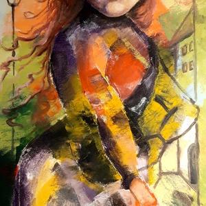 Olajfestmény, Otthon & lakás, Képzőművészet, Festmény, Olajfestmény, Festészet, Eladó egy feszített vászonra festett, egyedi olajfestmény. A kép mérete:30x60 cm. Igény esetén a kép..., Meska