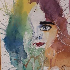 Kép, Otthon & lakás, Képzőművészet, Festmény, Akvarell, Festészet, Eladó egy akvarell kép, Meska
