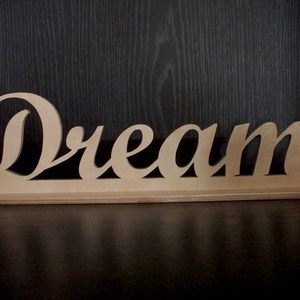 """Fa \"""" DREAM \"""" asztaldísz, Otthon & lakás, Dekoráció, Dísz, Ünnepi dekoráció, Lakberendezés, Asztaldísz, Famegmunkálás, Festett tárgyak, Egyedi, 8 mm vastag rétegelt lemezből, \nelektromos lombfűrésszel kivágott, \nlakkozott, kézműves term..., Meska"""