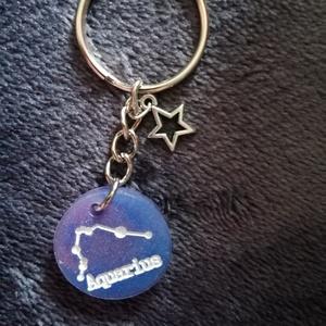 Zodiac kulcstartó - Aquarius, DIY (Csináld magad), Mindenmás, Meska