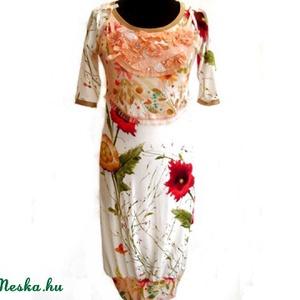 Virágoskert ruha - ruha & divat - női ruha - ruha - Meska.hu