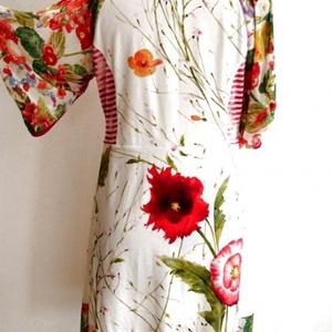 Nyulas virágoskert ruha - ruha & divat - női ruha - ruha - Meska.hu