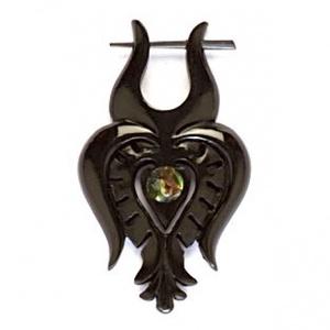 'Matyó tulipán'  fülbevaló, Ékszer, Fülgyűrű, Fülbevaló, Népi motívumos, organikus, kézzel faragott fülbevaló. Anyaga: szaru. Eklektikus, vagány darab, a mod..., Meska