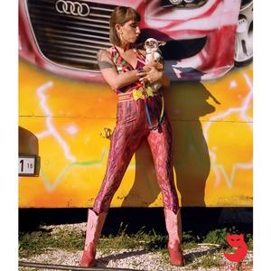 \'Varázsparázs\' printelt leggings, Táska, Divat & Szépség, Női ruha, Ruha, divat, Estélyi ruha, Ruha, Varrás, A leggings alapanyaga digitális printelt polyamid, \nMérete: S-M, Meska
