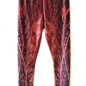 'Varázsparázs' printelt leggings - ruha & divat - női ruha - nadrág - Meska.hu