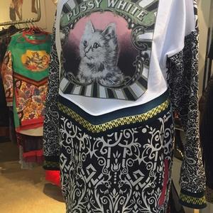 'Pussy White' macskás zsebes felső (psycat) - Meska.hu