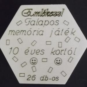 Memória játék, 26 darabos , Játék, Gyerek & játék, Fajáték, Társasjáték, Logikai játék, Famegmunkálás, Gravírozás, pirográfia, Teljesen fából, pirografiával készült memória játék.\n26 darabos egyenként 3cm x 4,5cm x 4mm-es, réte..., Meska