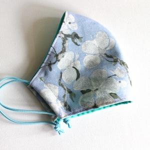 Szájmaszk - mosható, többször használható, Maszk, Arcmaszk,   Egyedi készítésű 2 rétegű, mosható és vasalható szájmaszk.  A maszk két rétegből áll. Egy külső me..., Meska
