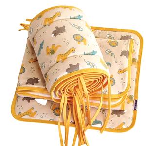 3 részes baba ágynemű garnitúra zoo, Játék & Gyerek, 3 éves kor alattiaknak, Varrás, 3 részes baba ágynemű garnitúra két rétegű takaró lapospárna rácsvédő.  krém színű plüssel\n Bébi tak..., Meska