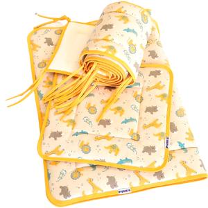 3 részes baba ágynemű szett vatelinnel bélelve takaró+párna+fejvédő ) zoo, Játék & Gyerek, 3 éves kor alattiaknak, Varrás, 3 részes baba ágynemű szett vatelinnel bélelve takaró+párna+fejvédő ) zoo, minőségi pamut alapanyagb..., Meska