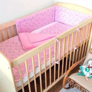 3 részes baba ágynemű szett vatelinnel bélelve picurka állatok rózsaszín, Játék & Gyerek, 3 éves kor alattiaknak, Varrás, 3 részes baba ágynemű szett vatelinnel bélelve takaró+párna+fejvédő )  minőségi pamut alapanyagból, ..., Meska