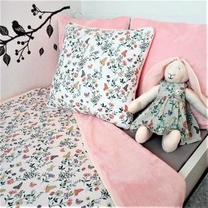 Kislány takaró párnahuzattal pillangók tört fehér, Otthon & Lakás, Lakástextil, Ágynemű, Varrás, Ez a szett olyan menő, hogy minden gyerkőc ilyet szeretne magának!\n HUZATNÉLKÜL HASZNÁLHATÓ!\nA Pukka..., Meska