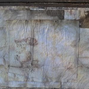ecoprint technikával készített papír, Képeslap & Levélpapír, Papír írószer, Otthon & Lakás, Újrahasznosított alapanyagból készült termékek, Papírművészet, A papír mintázatát ecoprint technikával készítettem. Az ecoprint, vagyis a növényekkel való nyomatké..., Meska