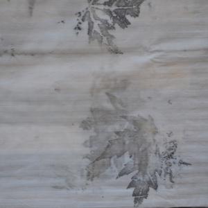 Eco print technikával készült párnahuzat (Pulsar) - Meska.hu