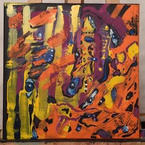 Kavalkád abstrakt festmény, Otthon & lakás, Dekoráció, Képzőművészet, Kép, Festmény, Akril, Festészet, Absztrakt akril festmény.\nFeszített vászonra készült\n\nMérete. 40 cm x 40 cm\n\nKavalkád\nSzínes, modern..., Meska
