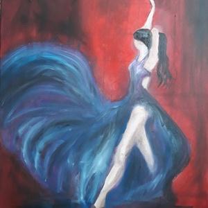 Táncos festmény, Otthon & lakás, Képzőművészet, Festmény, Olajfestmény, Napi festmény, kép, Lakberendezés, Falikép, Festészet, Táncos c. olajfesstmény\n\nMérete 50 cm x 40 cm\nFeszített vászonra készült, olajfestékkel.\nKERETEZÉST ..., Meska
